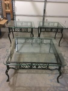 Wrought Iron and Glass Tables.  Must Sell!   Price Negotiable.