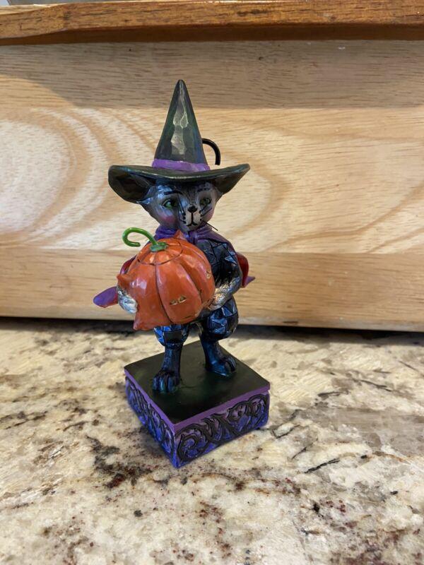 "2013 Jim Shore ""Purrfectly Frightful"" Halloween Cat Figurine 4036236 Rare"