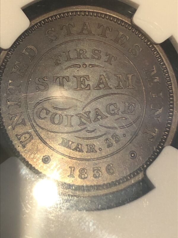 NGC 64 Choice Large Cent  Medal Original 1836-dated J-mt-21 First Steam Coinage