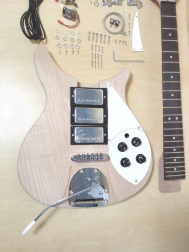 RC Style Solid Mahogany Body Electric Guitar DIY,No-Soldering,HHH Pickups. DKERK