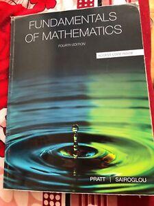 Fundamentals of Mathematics by Pratt Sairoglou