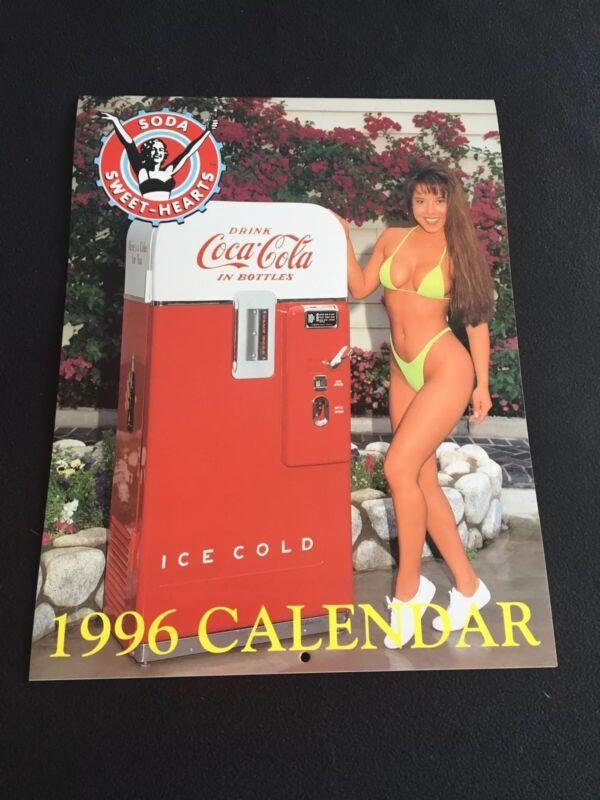 1996 SEXY SODA SWEET-HEARTS PINUP CALENDAR  NOS COCA-COLA ROYAL CROWN PEPSI