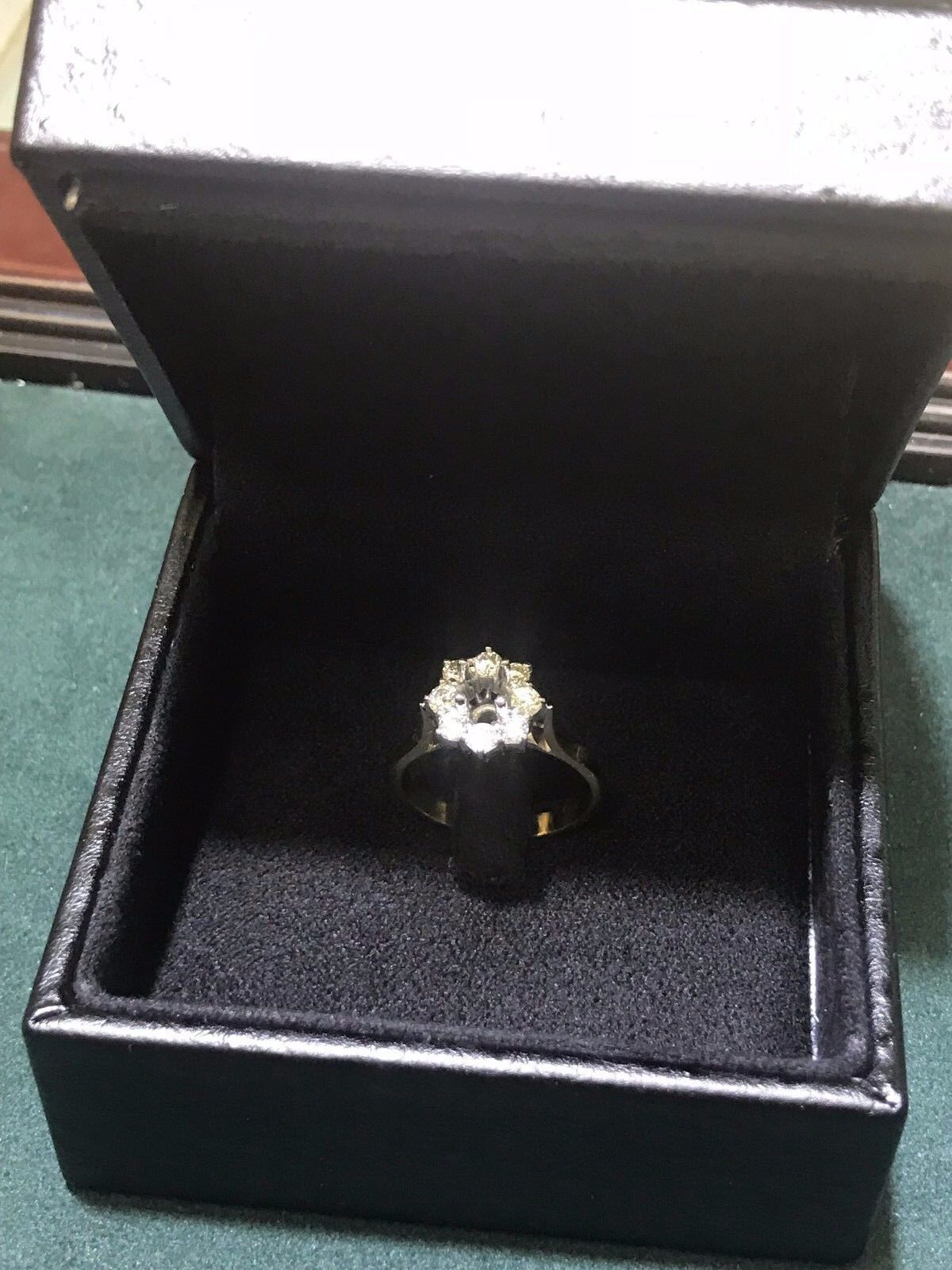 Halo Diamond Engagement Ring 0.51 Ct., 2 Tones  Gold 18K, GIA Gemologist Apprais