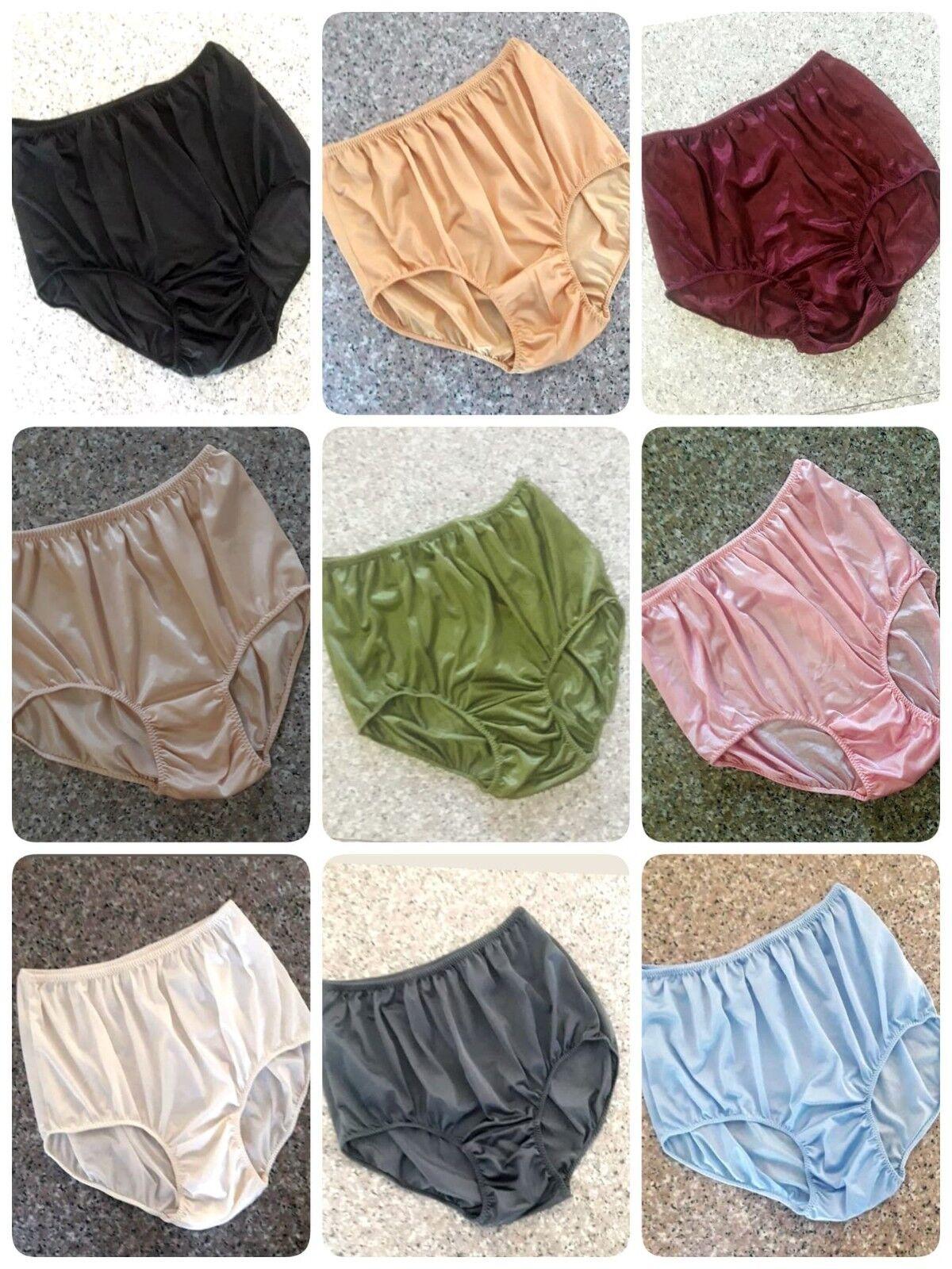 3XL Large Full Briefs Nylon Sheer Knickers Underwear Lingerie Panties Women Men