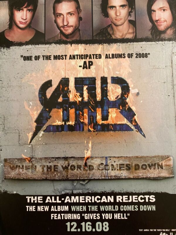 All American Rejects, When the World Comes Down, Full Page Promotional Ad