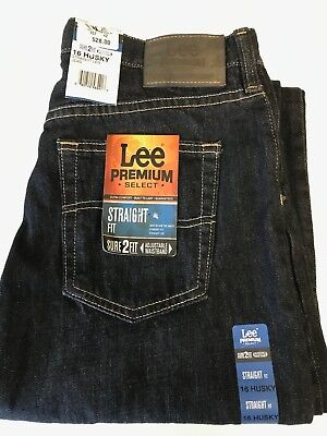 - Lee Boys Youth  Premium Jeans $10 OFF Size 18 Husky Relaxed Straight Leg
