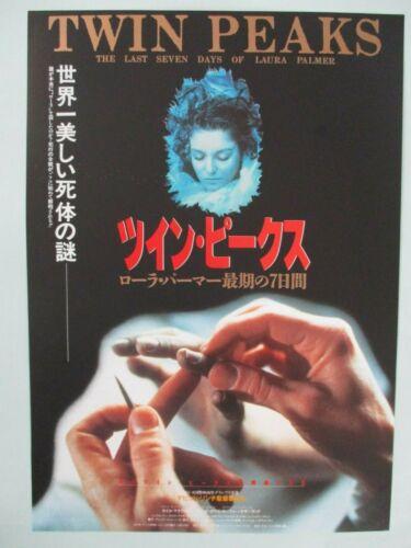 Twin Peaks The Last 7 Days Japan B5 mini poster 1992 flyer chirashi  NM Rare!!