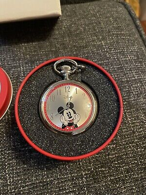Disney Mickey Mouse Collectible Pocket Watch in Tin with Box 2007 From Avon