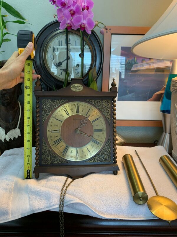 Vintage Linden CUCKOO Pendulum Clock Tempus Fugit Germany RARE