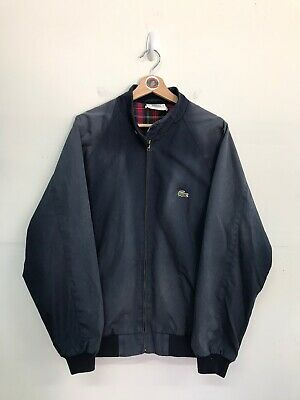 Vintage Lacoste Izod Harrington Jacket Mens XL Navy Blue Sun Faded Vtg