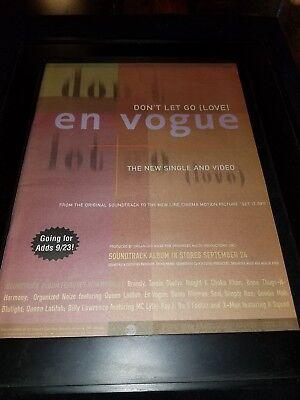 En Vogue Don't Let Go Love Rare Original Radio Promo Poster Ad Framed!