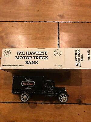 Rare Ertl Seacoast Nh Dealer Harley Davidson Truck Bank  2 1931 Hawkeye