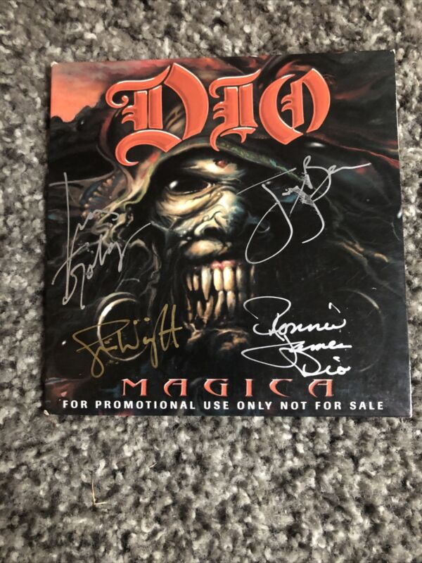 Ronnie James Dio Autographed By Band Promo Only Cd
