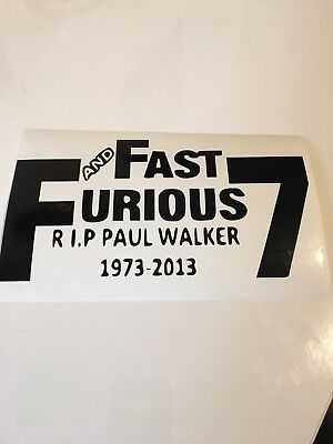 Window Toolbox Sticker #495 The Fast and the Furious Stickers