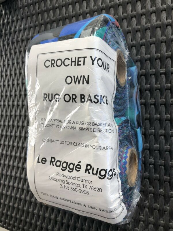 Le Ragge Ruggs Crochet Your Own Rug Or Basket 4 Lbs Of Fabric Bright Multicolors