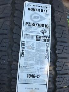 Two New P255/70R16 Dunlop Tires