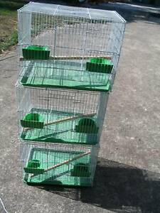 NEW SQUARE BIRD CAGES WHITE- $10 EACH- SML SIZE -READ AD!!