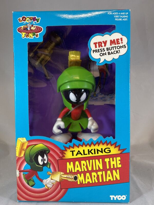 Marvin The Martian Talking Figure by Tyco  1993 - LOONEY TUNES - D12