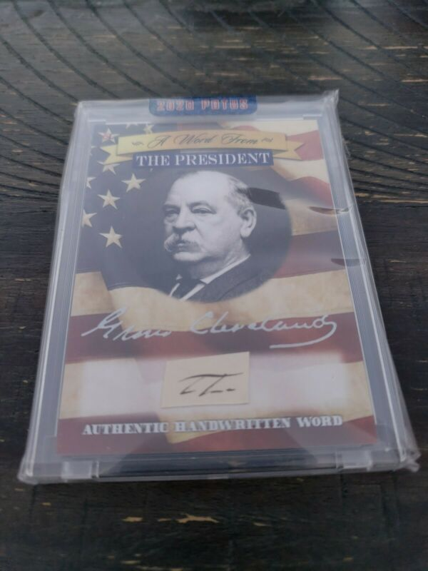 2020 POTUS A Word From The President GROVER CLEVELAND Handwritten Word No box