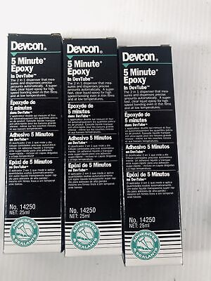 Devcon 5 Minute Epoxy 14250 25ml Lot Of 3 Out Of Date