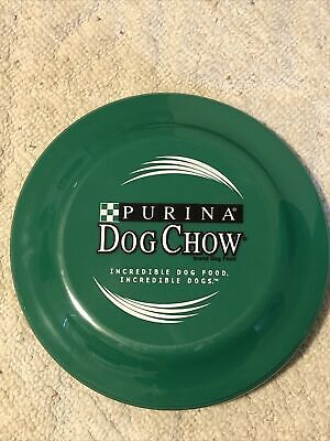 """Vintage 1990's PURINA Dog CHOW Food K-9 FLYING DISC 9"""" Catch Fetch Pet Toy PROMO"""