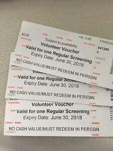 3 TIFF tickets/ vouchers