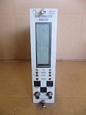 Bently 3300 Dual Vibration Monitor 330016-02-01-01-00-00-00 7161200g Used