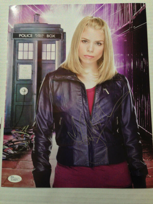 Billie Piper Doctor Who Autograph Signed 11x14 Photo JSA COA DR Who #2