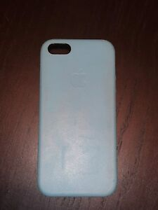 iPhone 5s Light Blue Leather Case by Apple