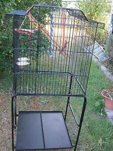 LARGE BIRD CAGE on PORTABLE STAND with castors Holland Park Brisbane South West Preview