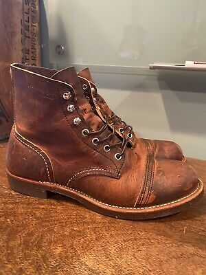 Red Wing Heritage Iron Ranger 8115 Copper Rough & Tough Boots 8.5D