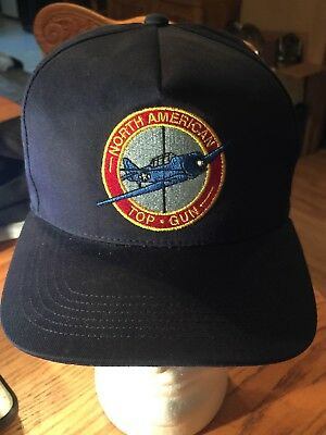 North American Top Gun Flight School Hat Cap Adjustable Snapback truckers hat !