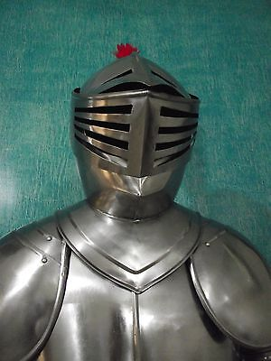 MEDIEVAL WEARABLE KNIGHT CRUSADER FULL SUIT OF ARMOR COSTUME -Custom Size