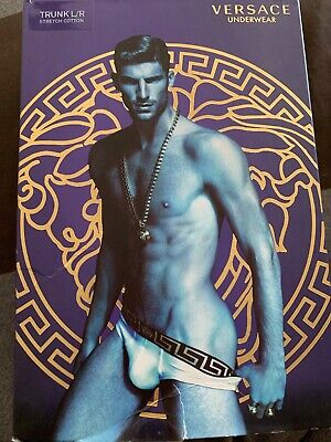 NWT Versace Men's Brief Size 3 White Mens Underwear New Small Authentic