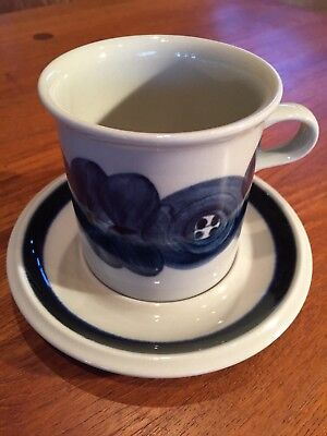 Arabia of Finland Anemone Coffee Cup & Saucer