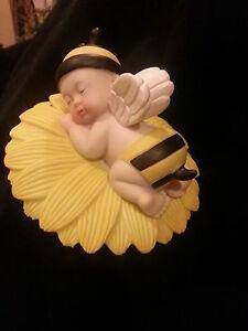 BIG Sleeping Angel Baby Bumble Bee Cake Topper ...
