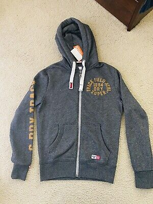 MENS * SUPERDRY Track & Field JAPAN * FULL ZIP FRONT HOODIE TOP SIZE Small