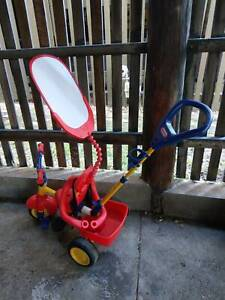 Kids Push along trike with visor and tray