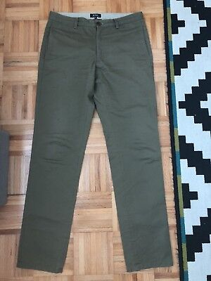 A.P..C. Men's Chinos Olive Green S/S 2016 Size 30