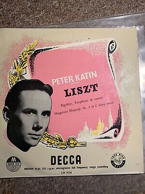 "peter katin 10"" liszt Hungarian Rhapsody No.2  In C Sharp Minor Vg/EX"