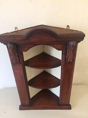 Victorian dark pine Hanging Corner Cabinet