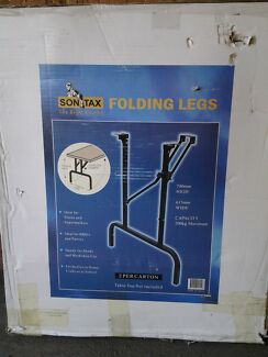 SONTAX FOLDING LEGS METAL TRESTLE TABLE LEGS, BRAND NEW IN BOX. Kingsley Joondalup Area Preview