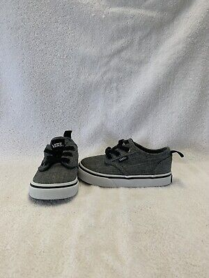Vans Off The Wall Infant/Toddler Boys Grey/black Shoes~size 6 C