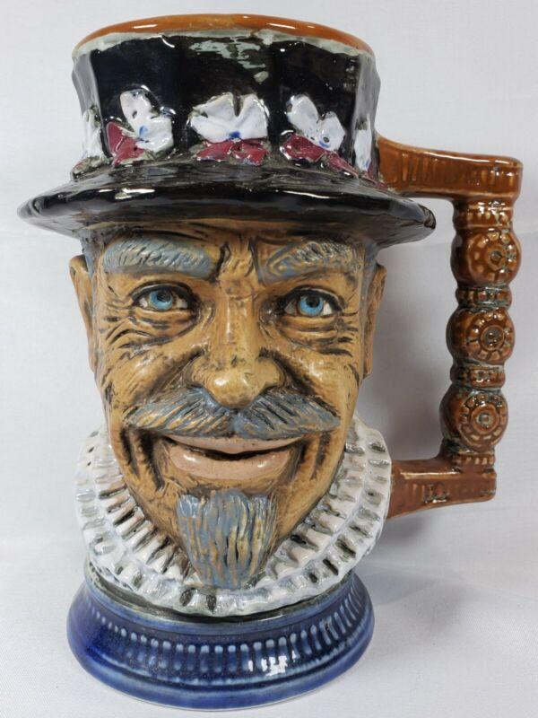 FACE Mug STEIN -RIP Vietata C.C. Art 2598-Signed S. ORVIS Italy Hand Painted