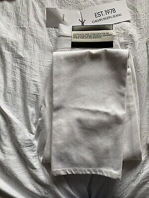 Calvin Klein Jeans EST. 1978 Straight 31 X 34 White With Bag RRP £165