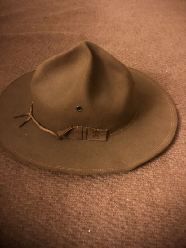 Vintage Official Boy Scouts of America Scoutmaster Felt Hat Made In USA