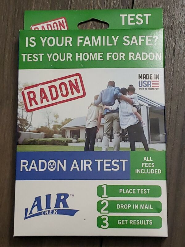 Radon Air Test Kit Air Chek Home Test All Fees Included Made USA *Free Shipping*