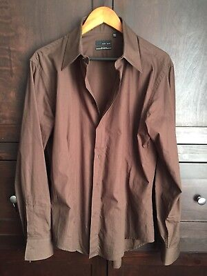 Used, Zara Men's Brown Button Down Shirt Size Extra-Large for sale  Montrose
