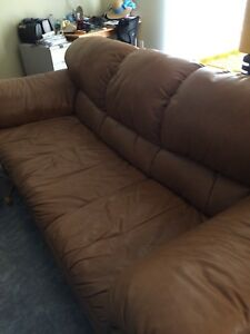 Real leather couch for sale