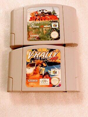 V-Rally 99 + Off Road Challenge Lot 2 x jeux Nintendo 64 N64 PAL